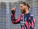 Sergio Ramos pictured for Real Madrid on May 5, 2021