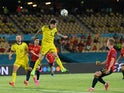 Sweden's Victor Lindelof in action against Spain at Euro 2020 on June 14, 2021