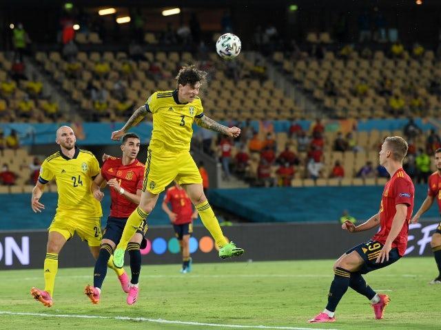 Sweden's Victor Lindelof in action against Spain at Euro 2020 on 14 June 2021