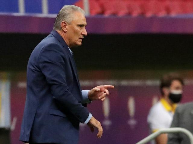 Brazil coach Tite pictured on June 13, 2021