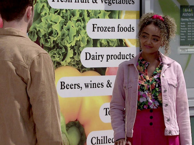 Emma on the first episode of Coronation Street on July 12, 2021