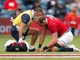 Lions captain Alun Wyn Jones goes down injured against Japan on June 26, 2021