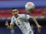 Argentina's Angel Di Maria in action on June 21, 2021