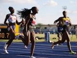 Dina Asher-Smith celebrates winning the British 100m title on June 26, 2021