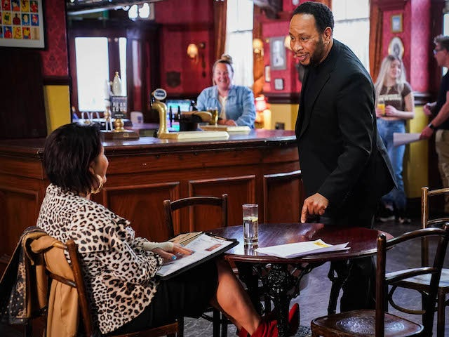Kat and Mitch on EastEnders on July 2, 2021
