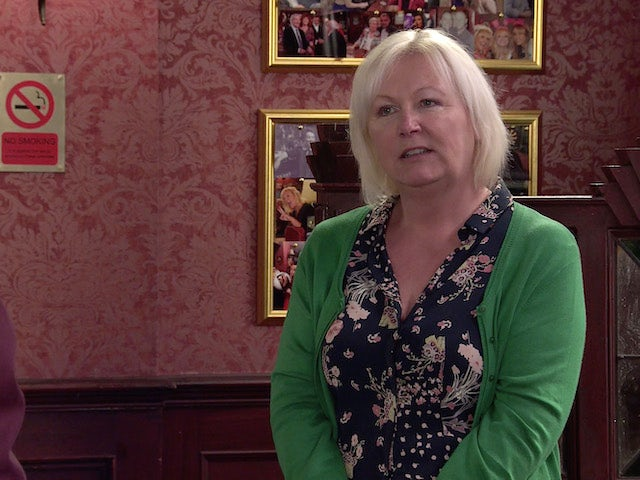 Eileen on the second episode of Coronation Street on July 12, 2021