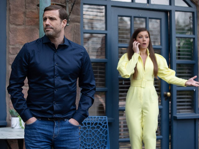 Warren and Maxine on Hollyoaks on July 1, 2021