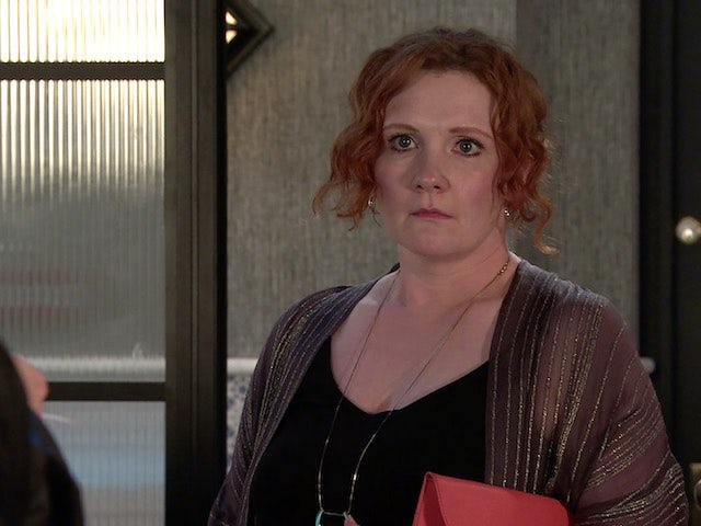 Fiz on the second episode of Coronation Street on July 12, 2021