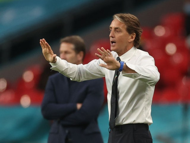 Italy manager Roberto Mancini reacts against Austria at Euro 2020 on June 26, 2021
