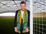 Jamie Vardy pictured with his Rochester Rhinos scarf