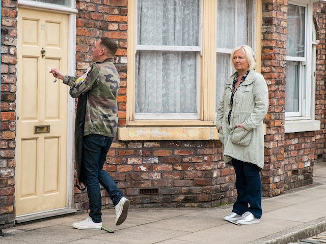 Sean and Eileen on the first episode of Coronation Street on July 12, 2021