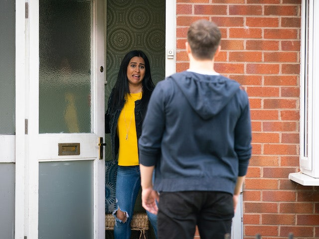 Alya on the second episode of Coronation Street on July 12, 2021