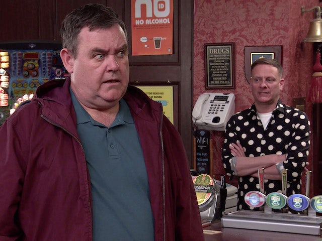 George on the second episode of Coronation Street on July 12, 2021
