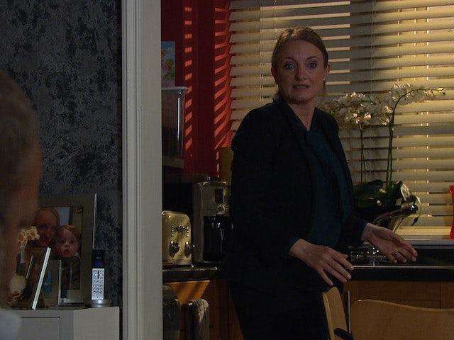 Nicola on Emmerdale on July 13, 2021