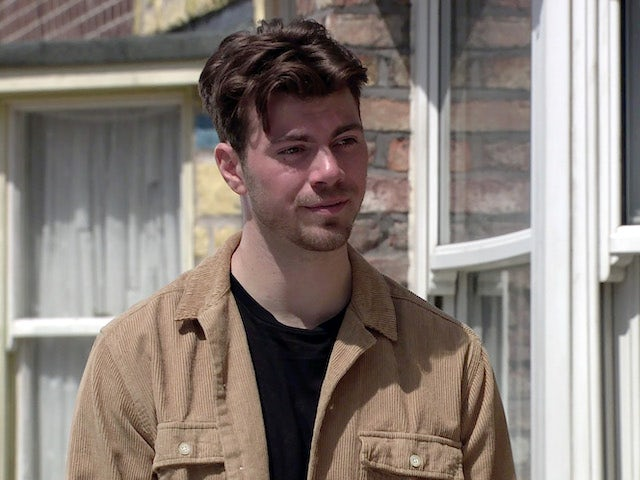 Curtis on the first episode of Coronation Street on July 12, 2021