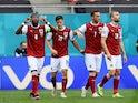 Austria's Christoph Baumgartner celebrates scoring their first goal against Ukraine at Euro 2020 on June 21, 2021