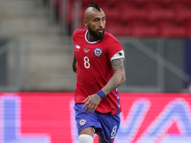 Chile's Arturo Vidal in action on June 25, 2021