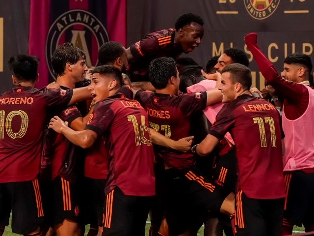 Atlanta United players react after Philadelphia Union scored an an own goal on June 20, 2021