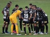 Corinthians team huddle on June 27, 2021