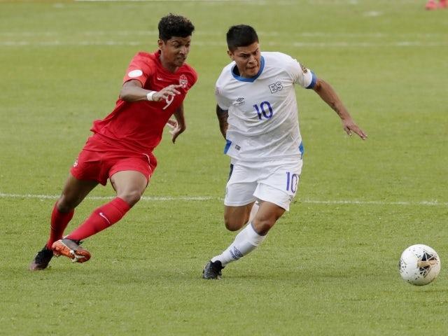 El Salvador's Eric Calvillo in action on March 19, 2021