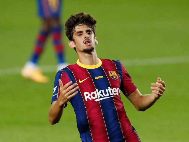 Francisco Trincao pictured for Barcelona in September 2020