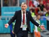 Czech Republic manager Jaroslav Silhavy reacts on June 27, 2021