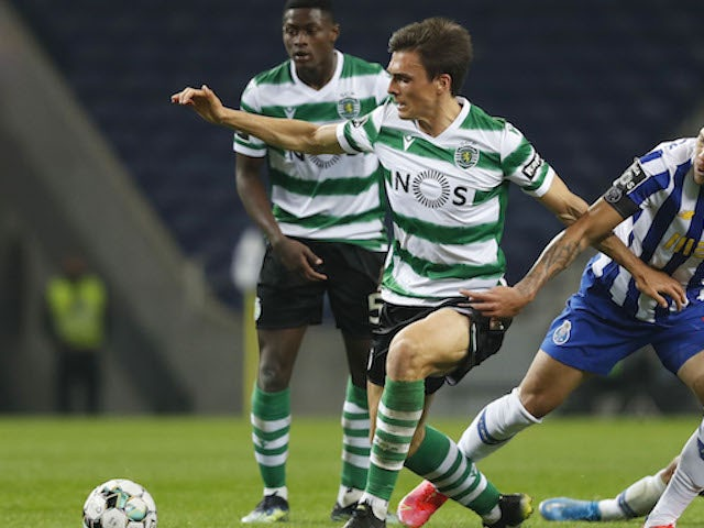 Sporting Lisbon's Joao Palhinha in action in February 2021