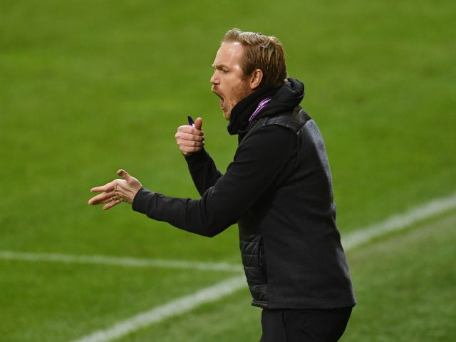 Jonas Eidevall, now in charge of Arsenal Women, pictured in 2019