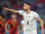 Italy midfielder Jorginho in action against Belgium at Euro 2020 on July 2, 2021