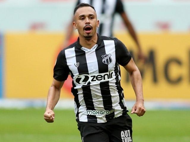 Ceara's Vinicius Lima celebrates scoring their first goal on June 20, 2021