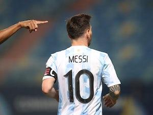 Neymar supporting Argentina in Copa America semi-final