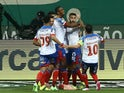 Bahia's Luiz Otavio celebrates scoring their first goal on June 28, 2021