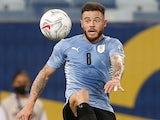 Uruguay's Nahitan Nandez in action at the Copa America on June 21, 2021