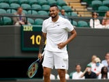 Nick Kyrgios pictured at Wimbledon on July 3, 2021
