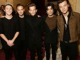 One Direction pictured in November 2014