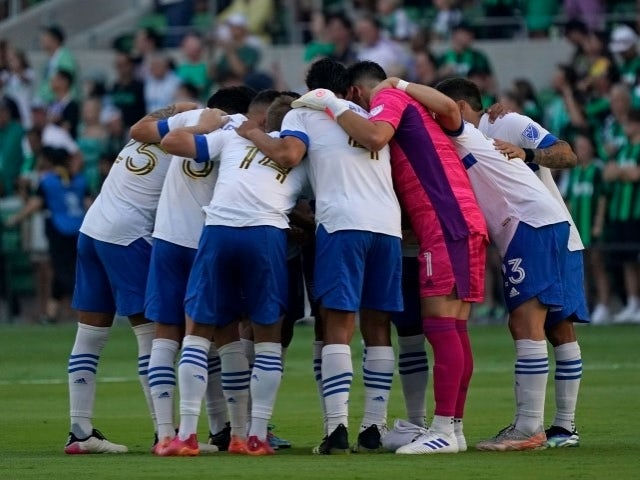 San Jose Earthquakes team before the game on June 23, 2021