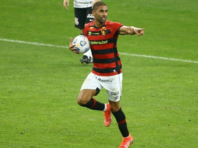 Sports Recife's Santiago Trellez celebrates scoring their first goal on June 24, 2021