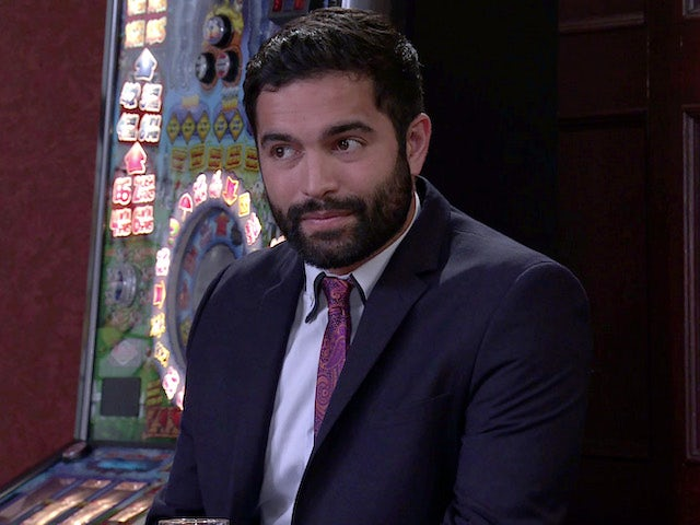 Imran on the first episode of Coronation Street on July 21, 2021