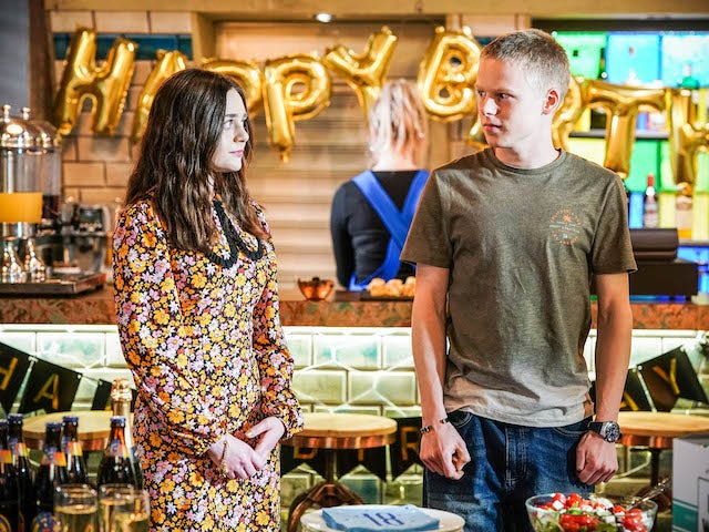 Dana and Bobby on EastEnders on July 22, 2021