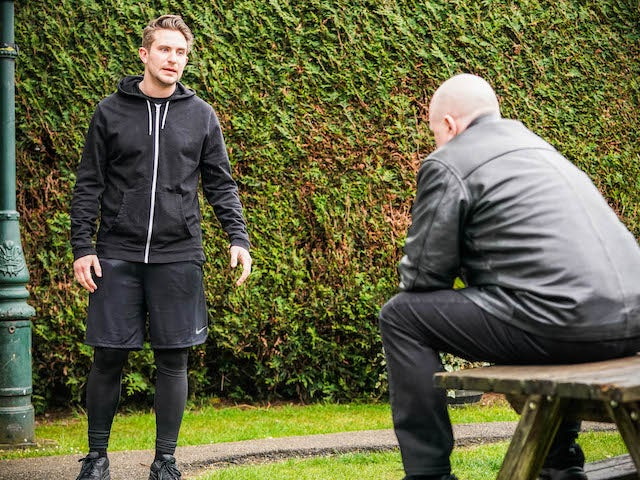 Callum and Phil on EastEnders on July 22, 2021