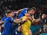 Italy's Gianluigi Donnarumma celebrates as his team beat England to win Euro 2020 on July 11, 2021