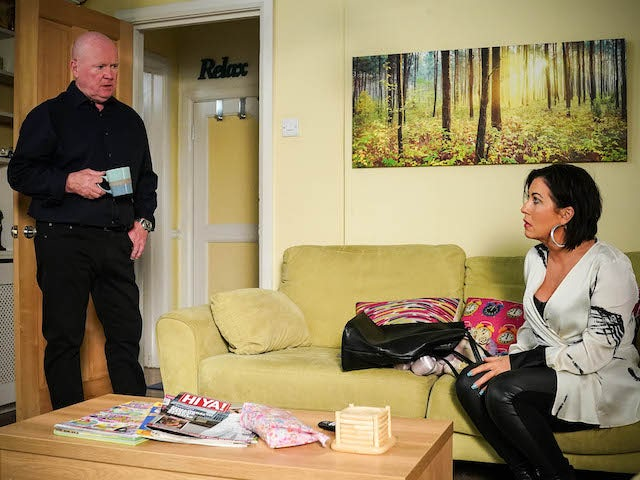 Phil and Kat on EastEnders on July 12, 2021