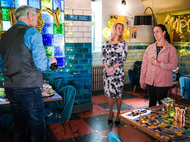 Rocky, Kathy and Sonia on EastEnders on July 22, 2021