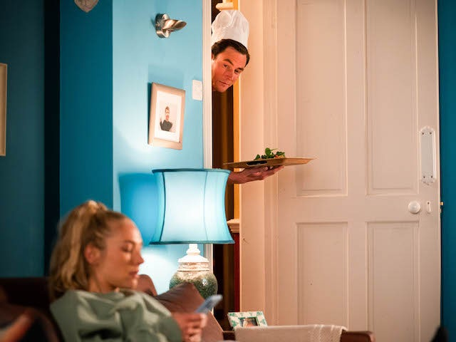 Nancy and Zack on EastEnders on July 12, 2021 *SATURDAY 10TH EMBARGO*