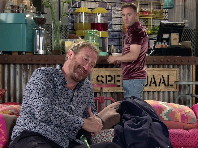 Phill and Tyrone on the second episode of Coronation Street on July 21, 2021