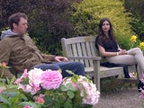 Liam and Meena on Emmerdale on July 19, 2021