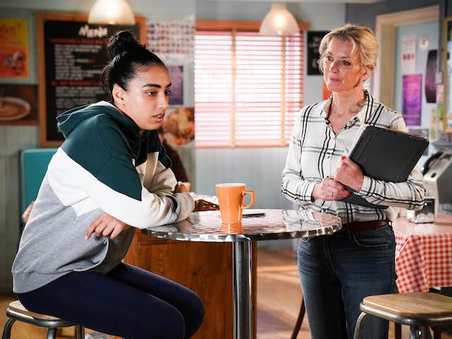 Ash and Kathy on EastEnders on July 12, 2021