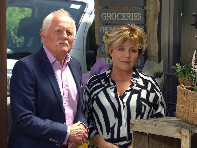 Pollard and Brenda on Emmerdale on July 20, 2021