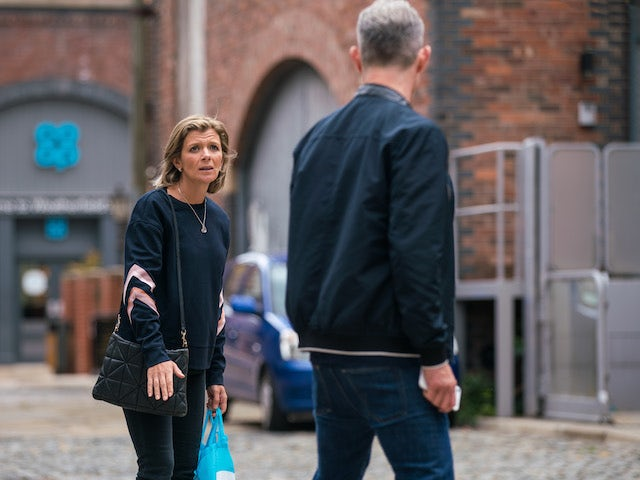 Leanne on the second episode of Coronation Street on July 21, 2021