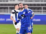 Miralem Pjanic pictured for Bosnia in March 2021